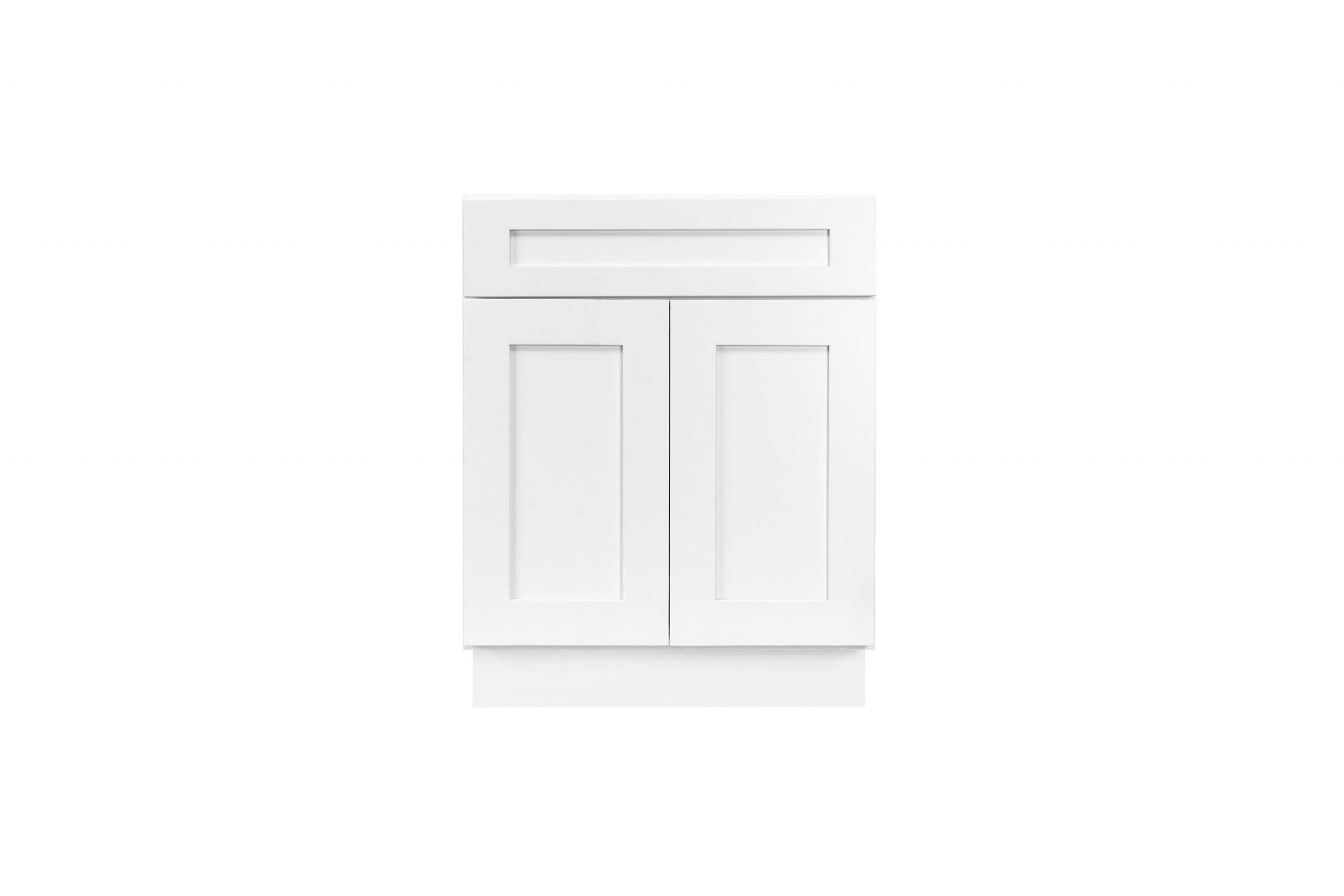 White Shaker Cabinetry B24, B27