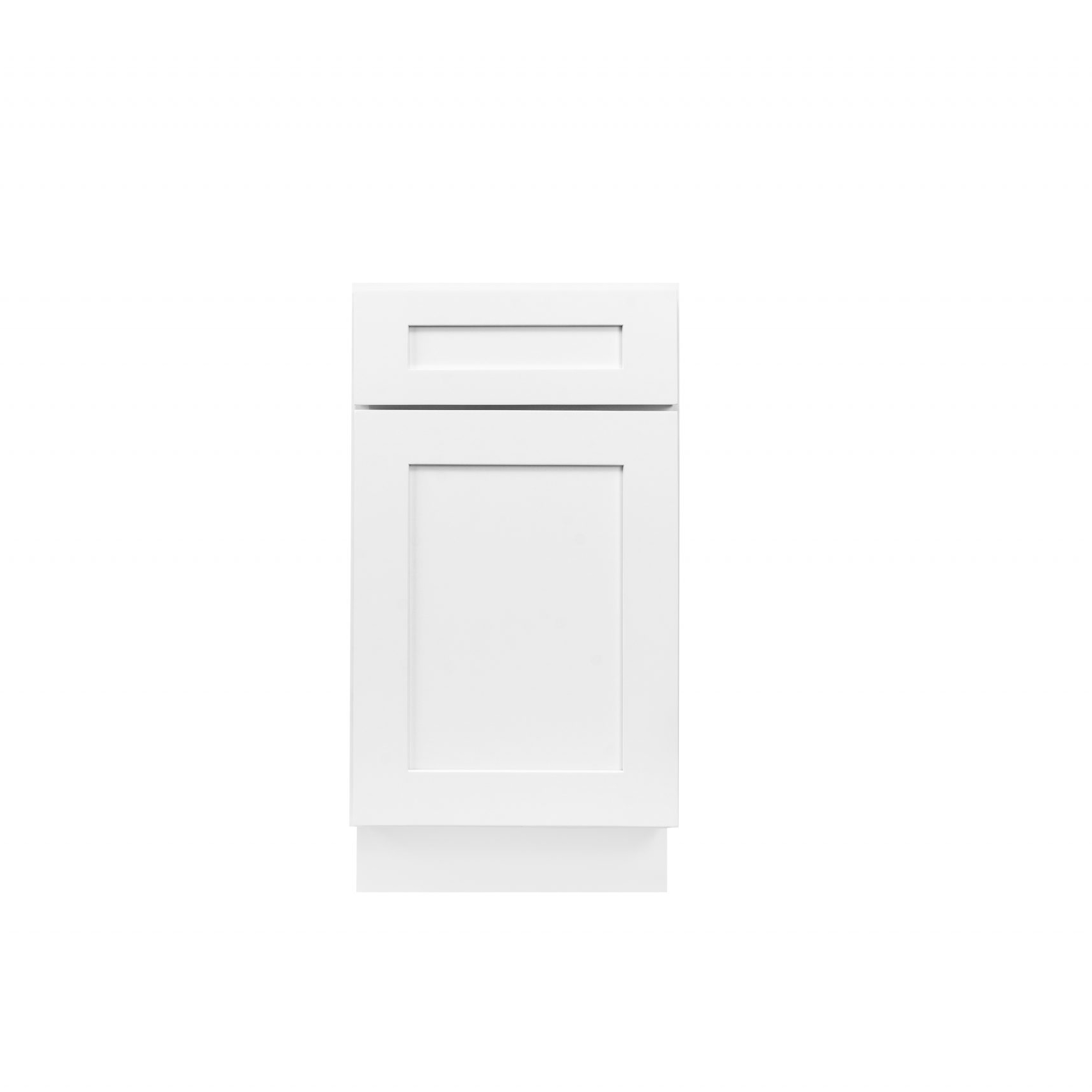 White Shaker Cabinetry B12, B15, B18, B21