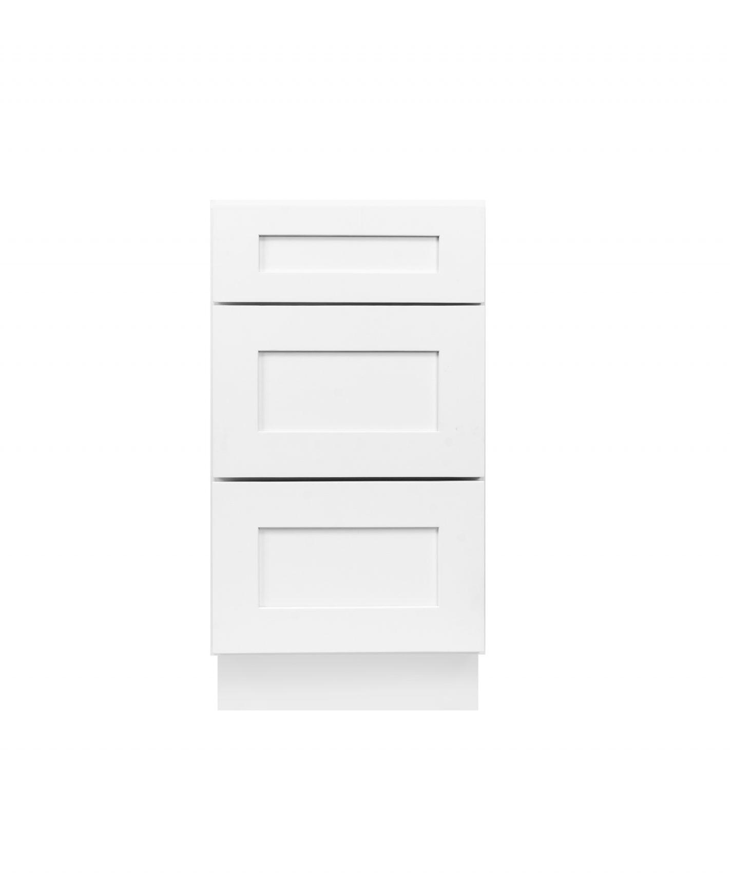 White Shaker Cabinetry DB12, DB15, DB18, DB21, DB24, DB30, DB36