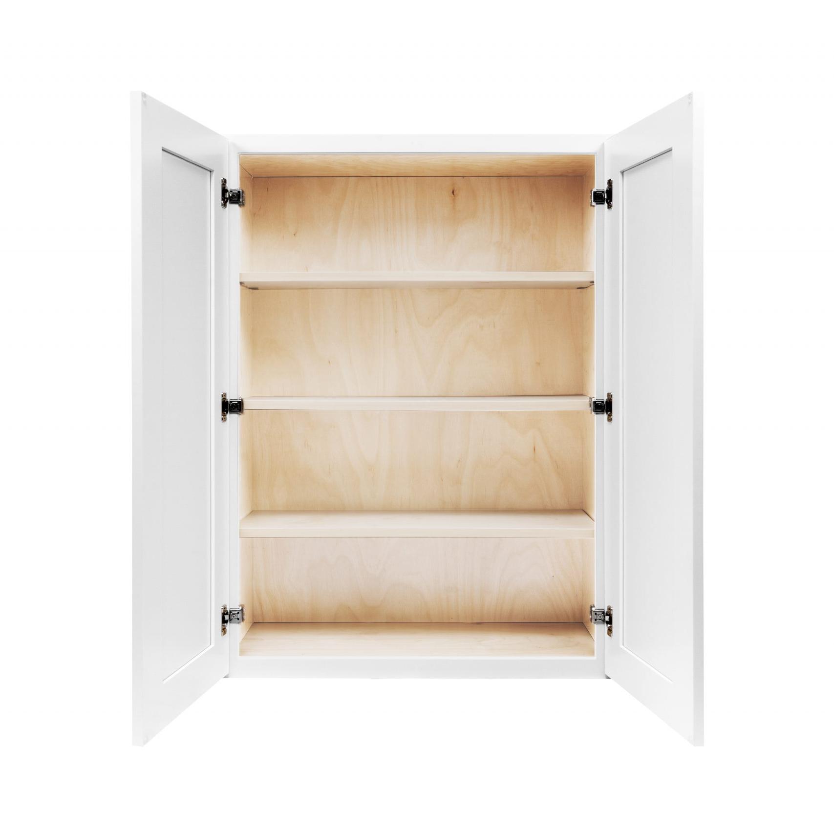 White Shaker Cabinetry W24, W27, W30, W33, W36