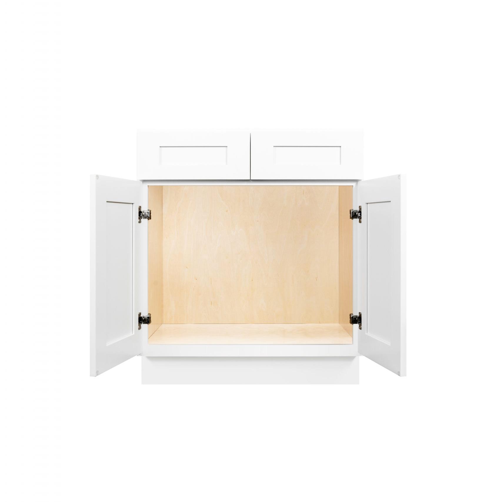 White Shaker Cabinetry SB30, SB33, SB36