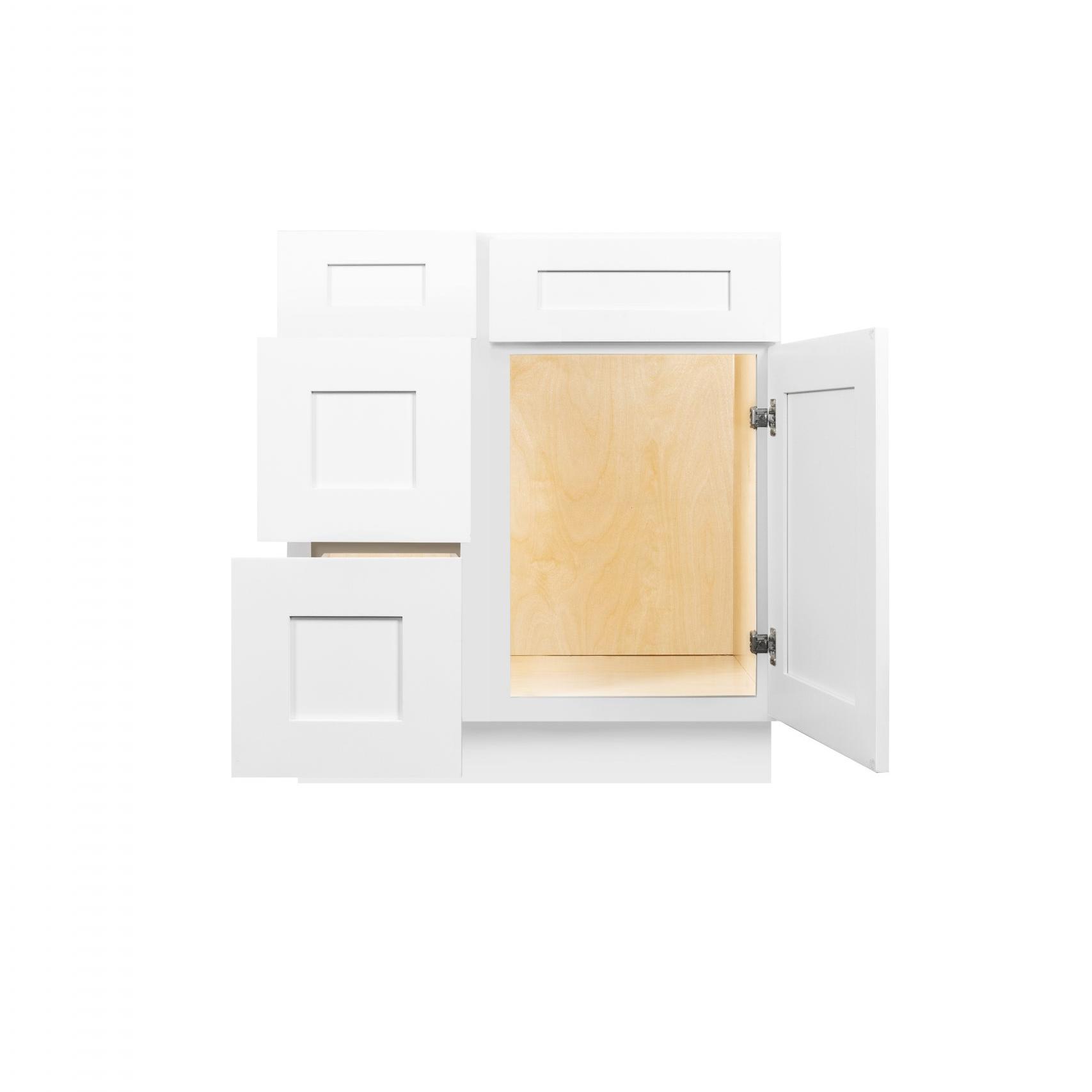 White Shaker Cabinetry VA36