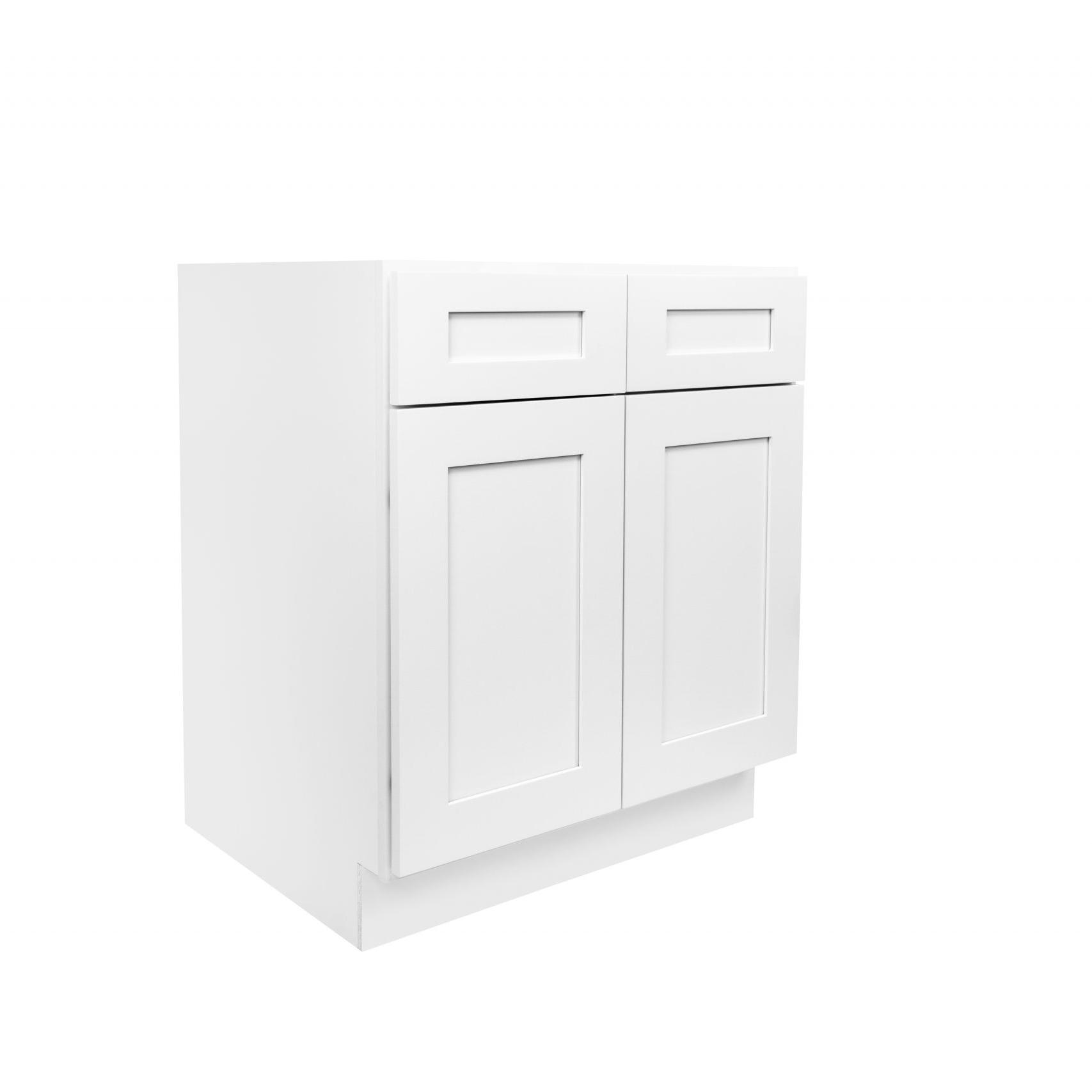 White Shaker Cabinetry B30, B33, B36