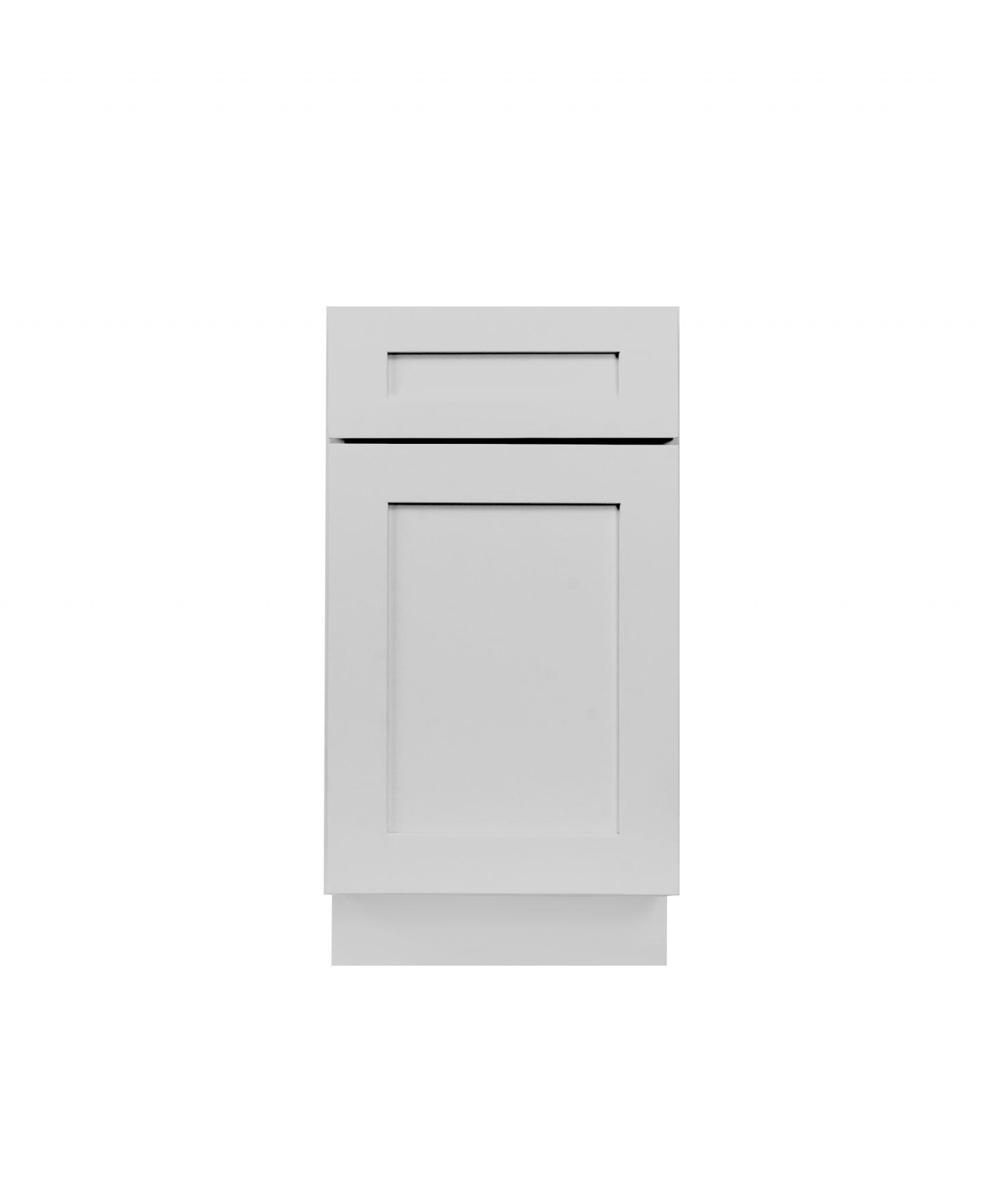 Gray Shaker Cabinetry B12, B15, B18, B21