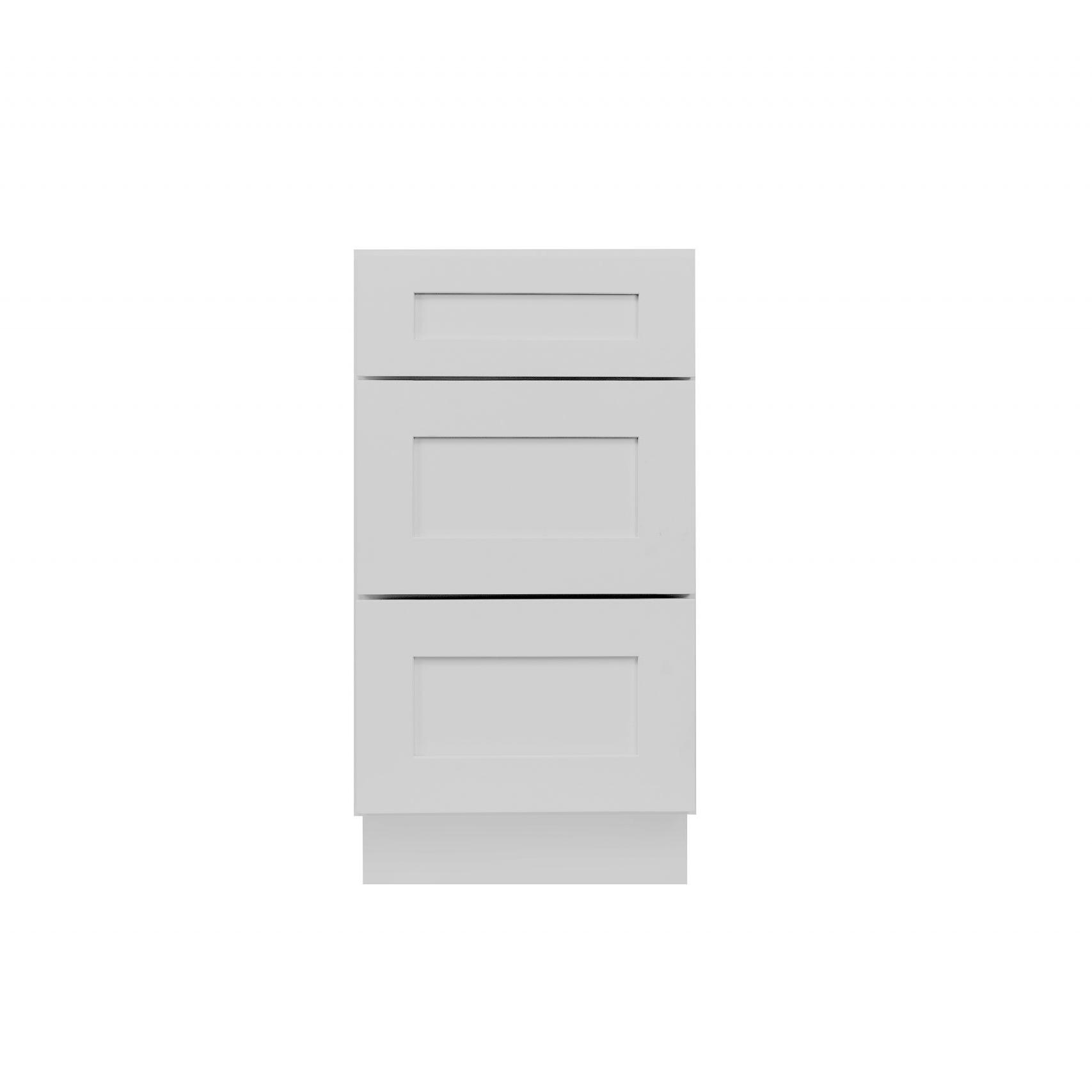Gray Shaker Cabinetry DB12, DB15, DB18, DB21, DB24, DB30, DB36