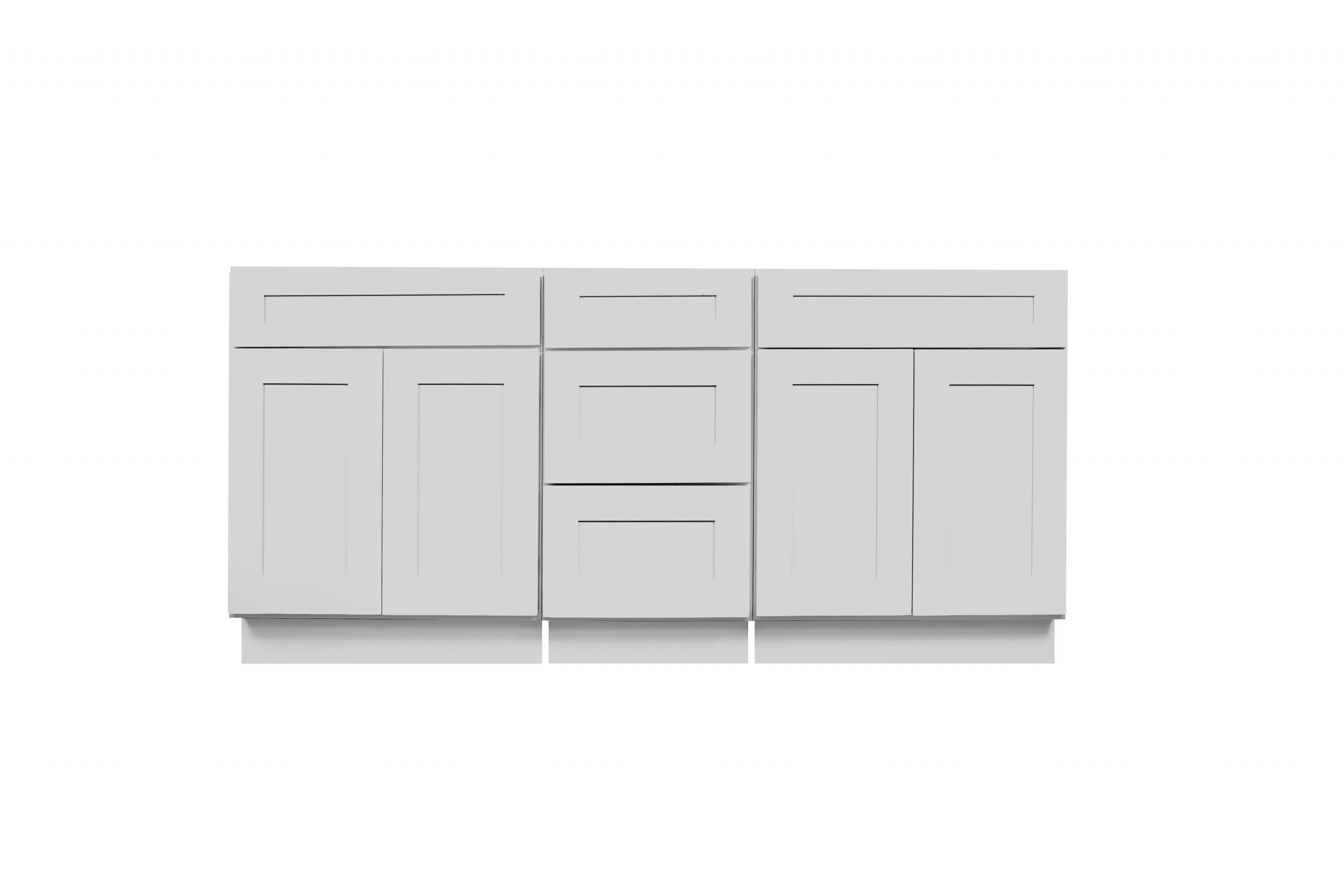 Gray Shaker Cabinetry VSB / VDB