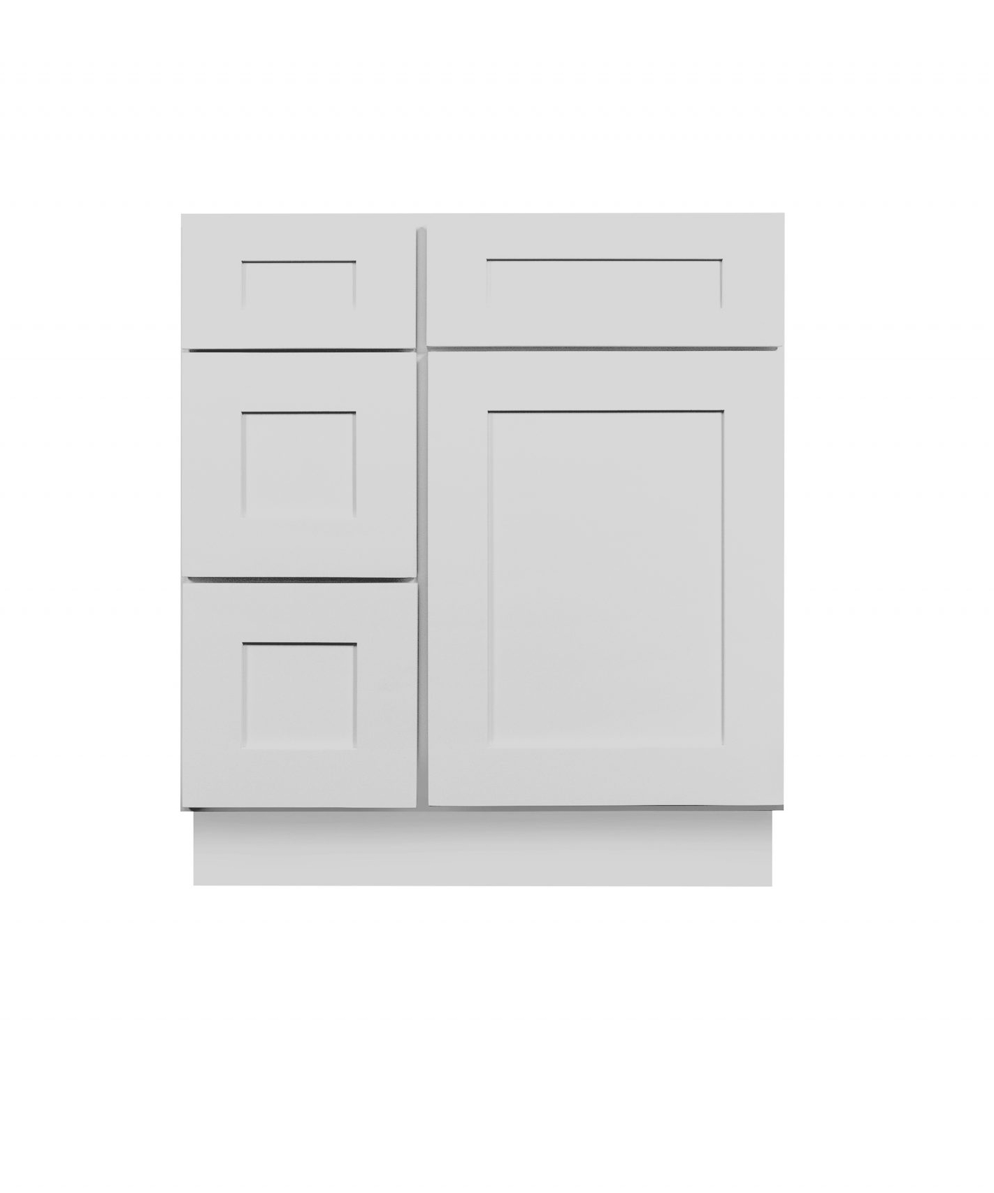 Gray Shaker Cabinetry VA36