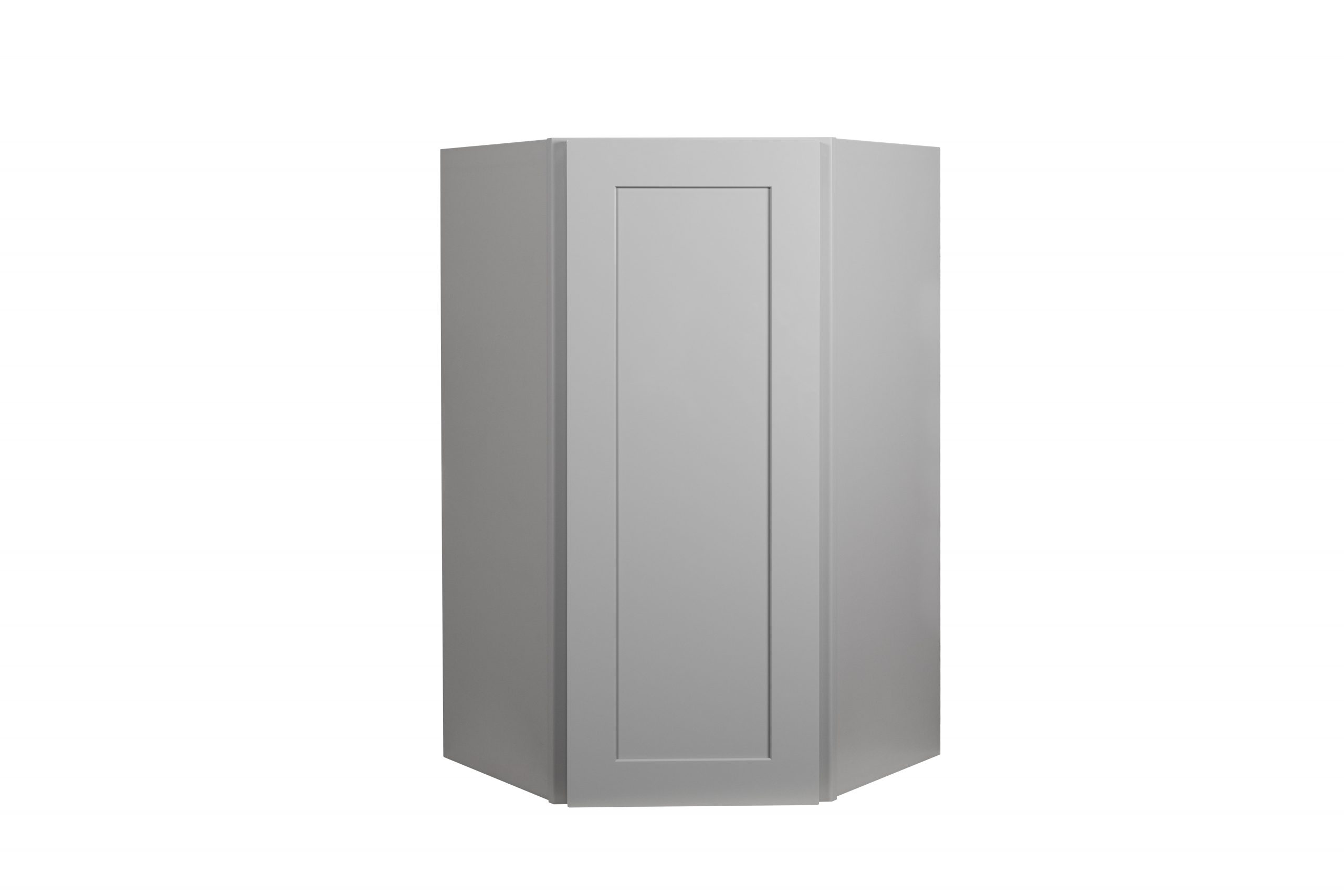 Gray Shaker 24 Wall Diagonal Corner Cabinet Nelson Cabinetry