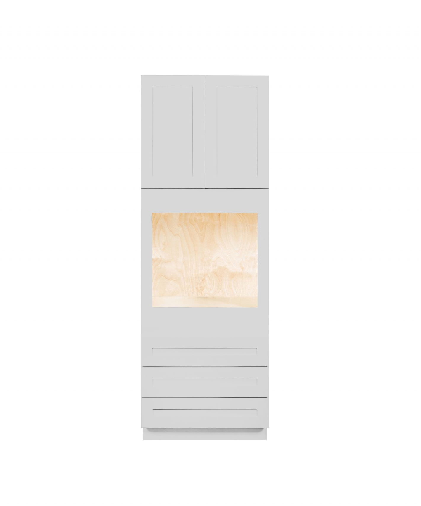 Nelson Cabinetry Gray Shaker Kitchen Oven Cabinet