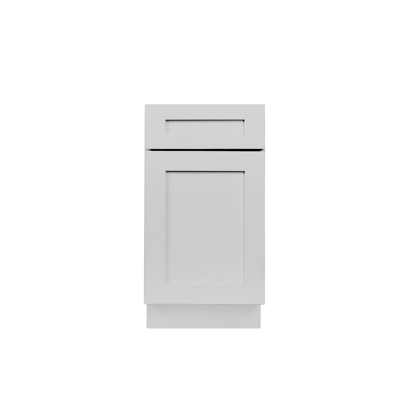 Gray Shaker Cabinetry BWB18