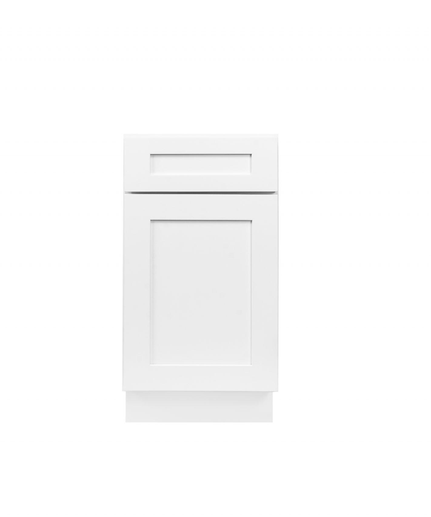 White Shaker Cabinetry BWB18