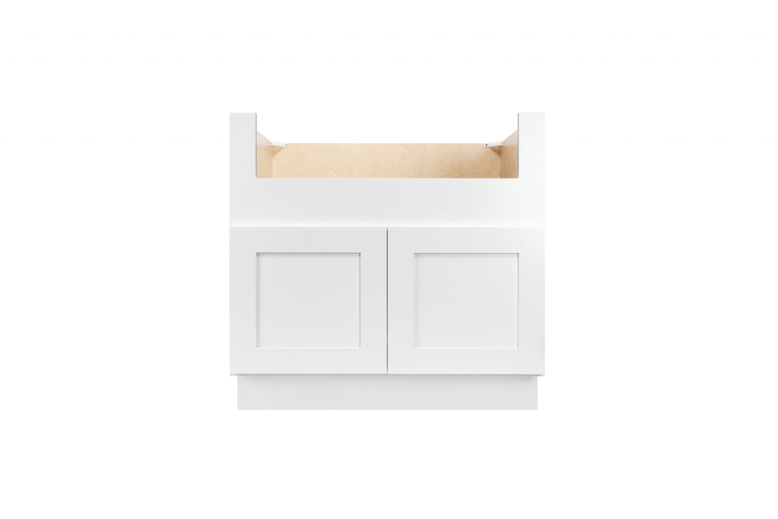 White Shaker Cabinetry FSB36