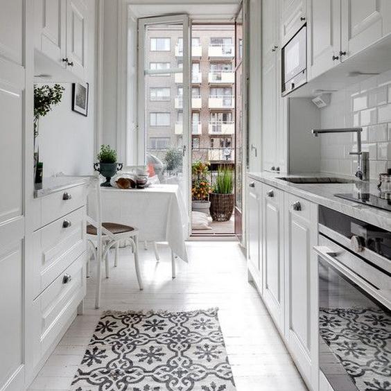 gallery kitchen layout