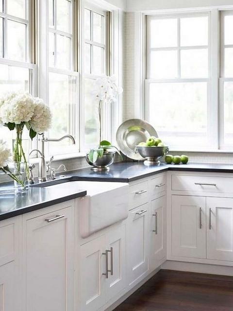 granite countertop shaker kitchen