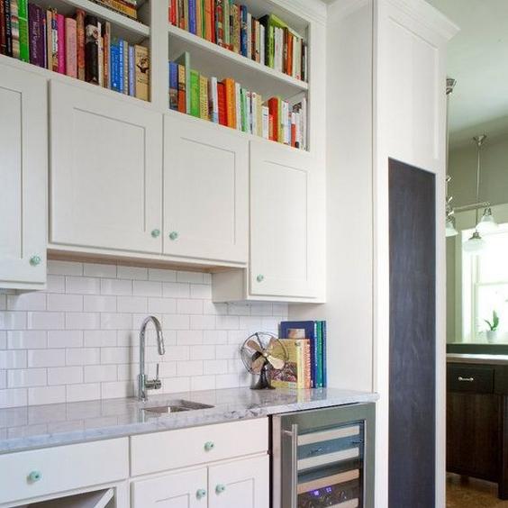 wet bar book shelves