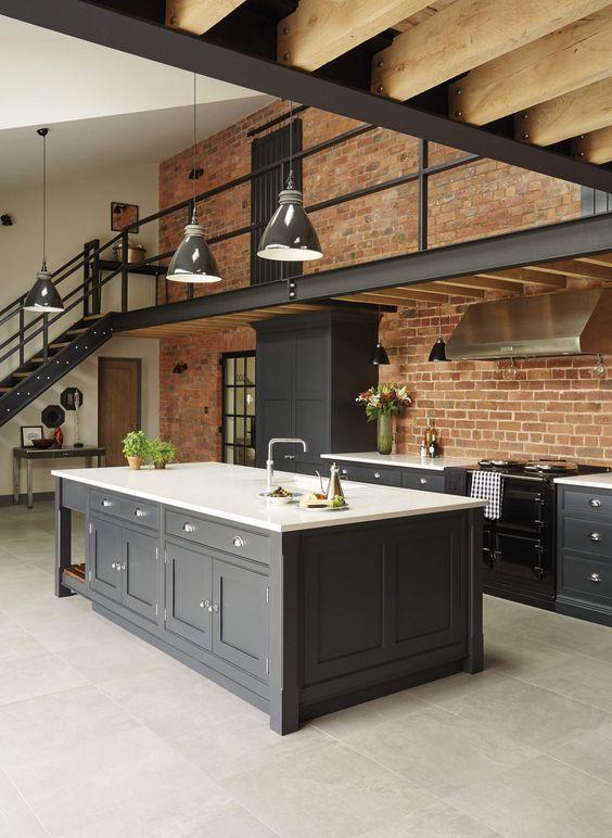 industrial shaker kitchen