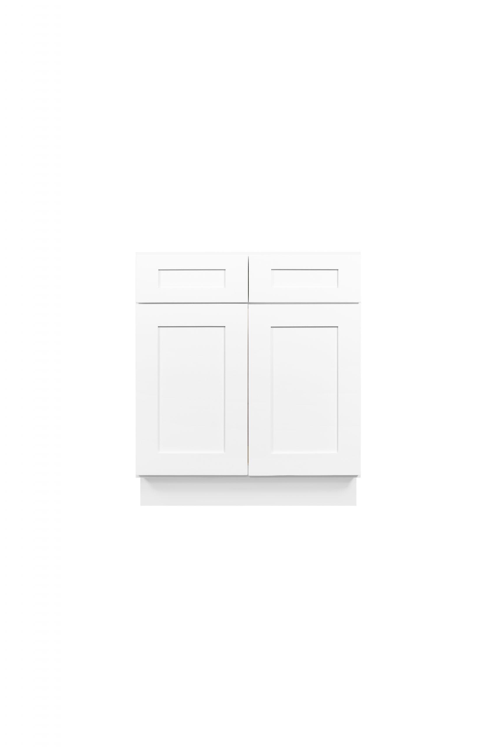 White Shaker Cabinetry VA24, VA27, VA30, VA36
