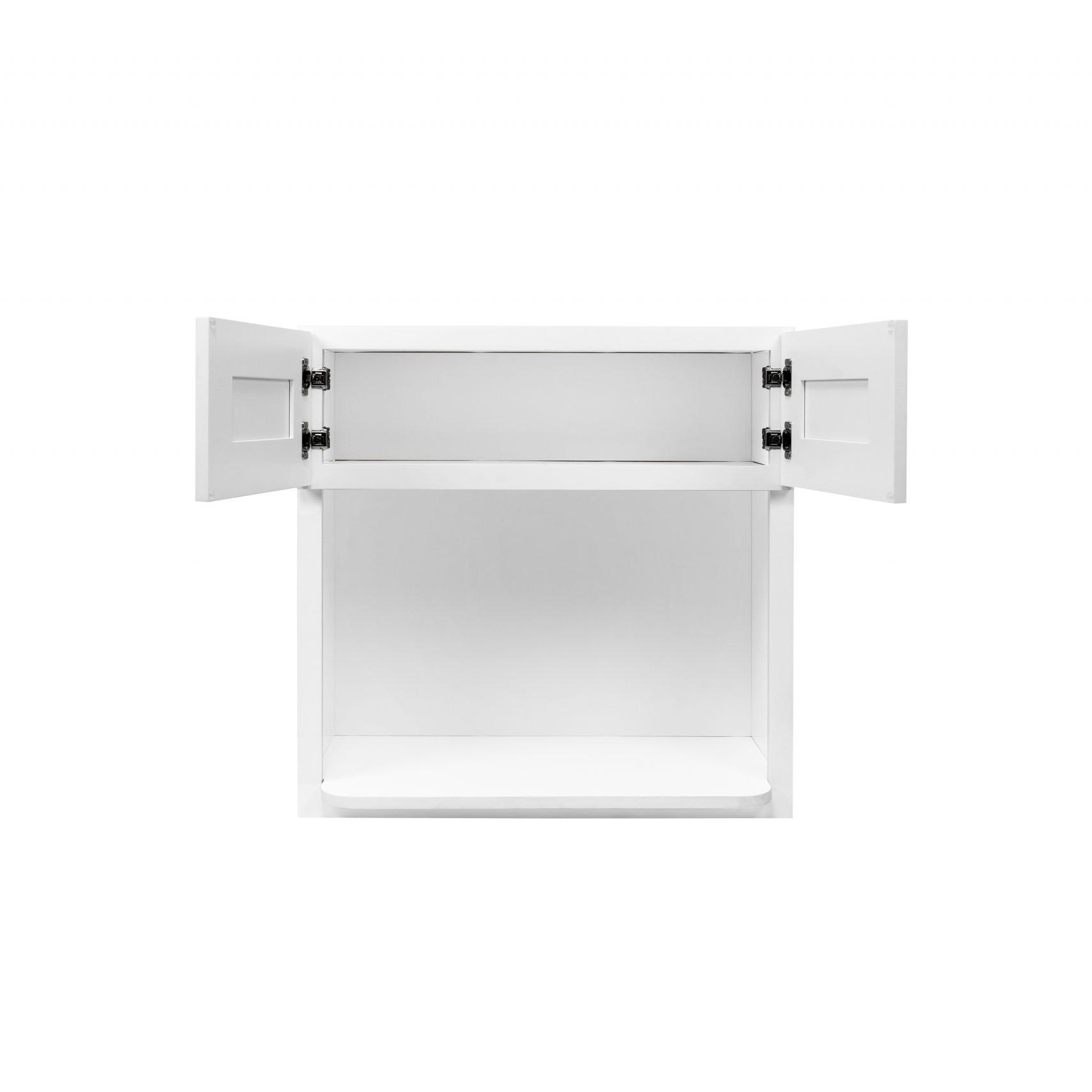 White Shaker Cabinetry WMC3030, WMC3036, WMC3042
